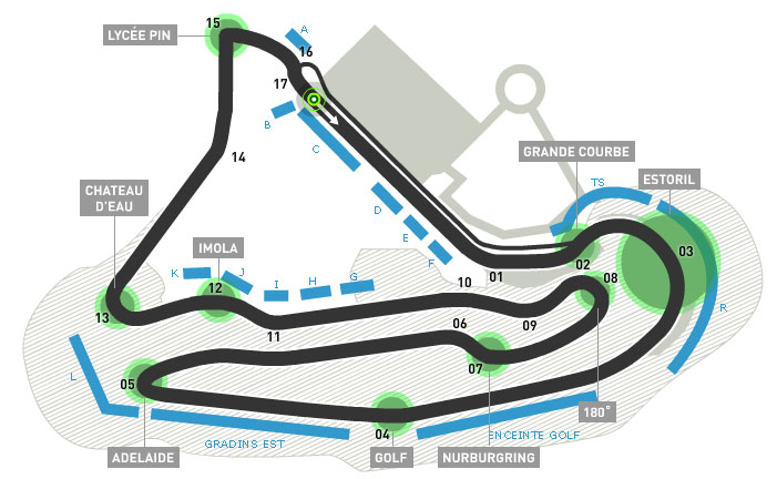France. Magny-Cours. Карта трассы