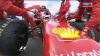 Болид Феррари перед стартом, Формула 1 - Гран-при Великобритании - Сильверстоун - 2011 - Гонка