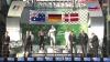 победители ф1 гран при Австралии на подиуме - Росберг, Рикьярдо и Магнуссен