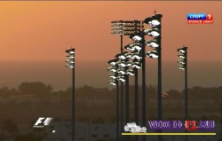 осветительные столбы на трассе, гонка стала ночной в 2014 году