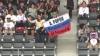 поклонники А.Попова с его флагом на трибуне в Японии
